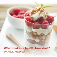 What makes a health breakfast?