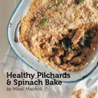 Healthy Pilchards & Spinach Bake